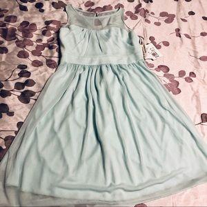 Davids Bridal Sleeveless Dress mint green girls 12